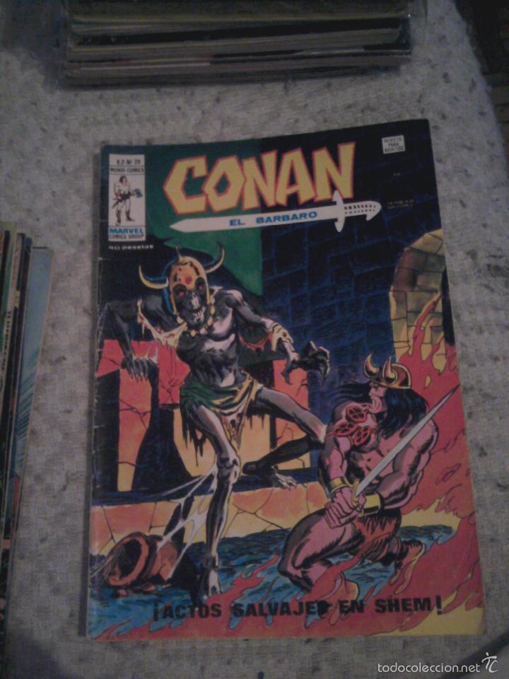 Cómics: Conan el Bárbaro 26 27 28 29 30 31 32 33 36 37 38 39 40 41 42 y 43 - Vértice - nºs sueltos - Foto 4 - 58772026