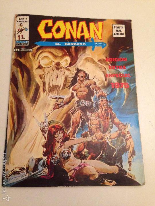 CONAN EL BARBARO V 2 VOL 2 Nº 6. EDICION EXTRA ESPECIAL 1975. VERTICE 1975 (Tebeos y Comics - Vértice - Conan)