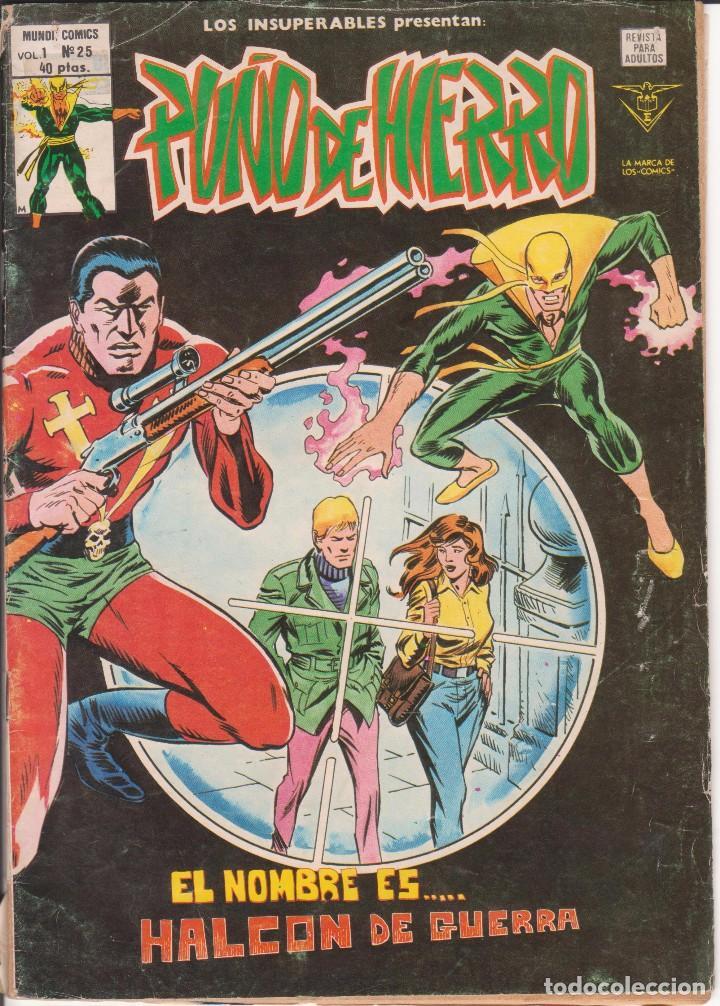 CÓMIC VÉRTICE - LOS INSUPERABLES / PUÑO DE HIERRO - Nº25 VOL.1 B/N. (Tebeos y Comics - Vértice - V.1)