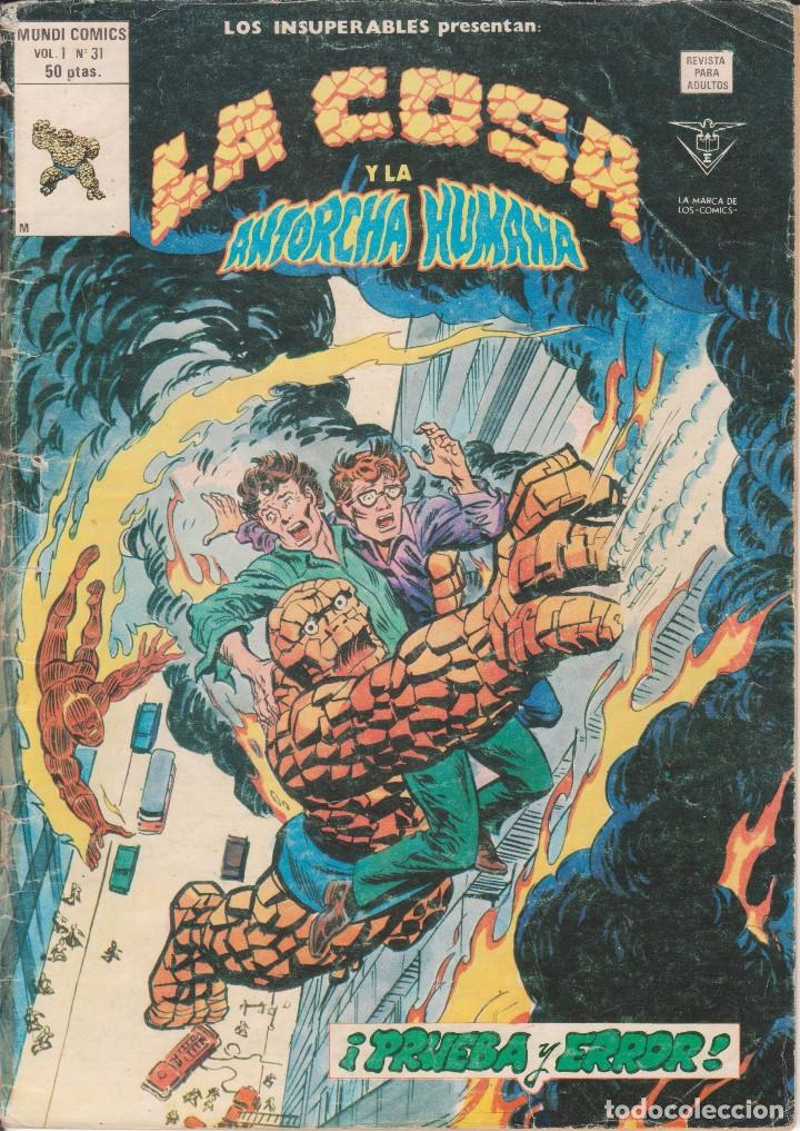 CÓMIC VÉRTICE - LOS INSUPERABLES / LA COSA Y LA ANTORCHA HUMANA - Nº 31 VOL.1 B/N. (Tebeos y Comics - Vértice - V.1)