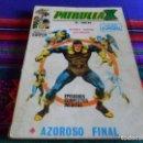 Cómics: VÉRTICE VOL. 1 PATRULLA X Nº 18. 25 PTS. AZOROSO AZAROSO FINAL.. Lote 62060052
