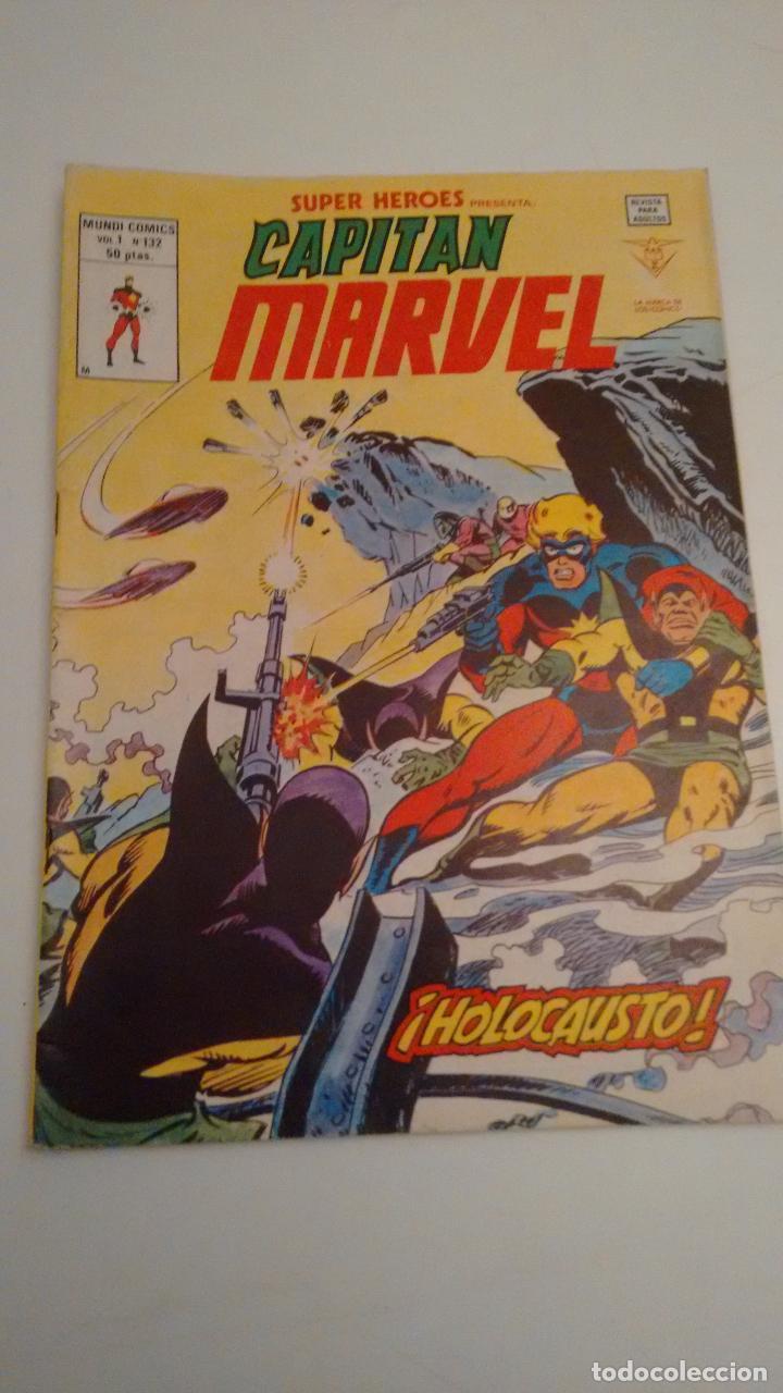 SUPER HEROES V2. Nº 132. SUPER HEROES PRESENTA CAPITAN MARVEL. ¡HOLOCAUSTO!. 1980 VERTICE. (Tebeos y Comics - Vértice - Super Héroes)
