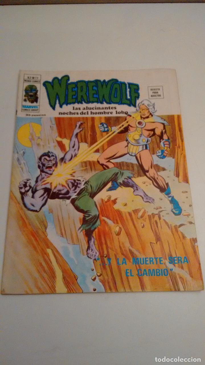 WEREWOLF V.2. Nº 19 ... Y LA MUERTE SERÁ EL CAMBIO. 1976 VERTICE. (Tebeos y Comics - Vértice - V.2)