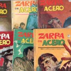 Cómics: LOTE ZARPA DE ACERO GRAPA ORIGINAL - NºS - 8,9,12,14,17,19 J. BLASCO DIBUJOS - EDI. VÉRTICE 1964-65. Lote 63419372