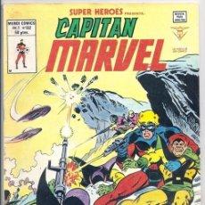Cómics: CAPITÁN MARVEL: ¡HOLOCAUSTO! / SUPER HÉROES V1 [EN REALIDAD V2], 132 - VÉRTICE, 11/1980. Lote 64458299