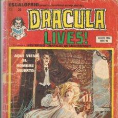 Cómics: ESCALOFRIO PRESENTA: DRÁCULA LIVES!. Nº 28. EDICIONES VERTICE. (Z/C11). Lote 64777387