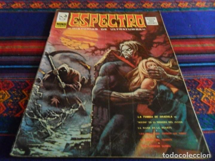 VÉRTICE ESPECTRO ESPECTROS Nº 37. 1974. 30 PTS. LA TUMBA DE DRACULA. MUY DIFÍCIL. (Tebeos y Comics - Vértice - Terror)