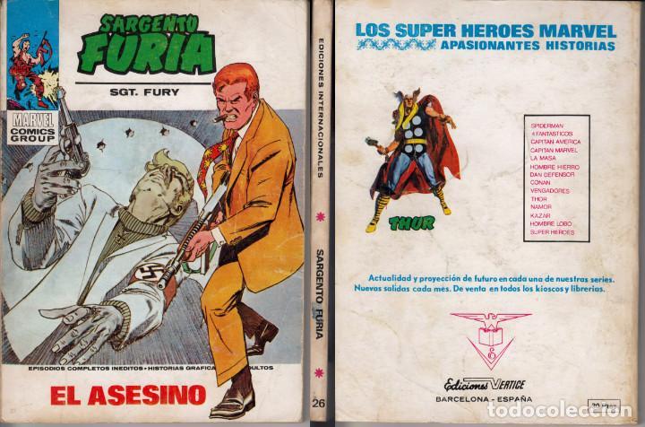 VERTICE SARGENTO FURIA 26 (Tebeos y Comics - Vértice - Furia)