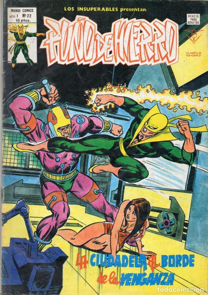 COMIC VERTICE 1979 LOS INSUPERABLES VOL1 Nº 22 PUÑO DE HIERRO BUEN ESTADO (Tebeos y Comics - Vértice - Otros)