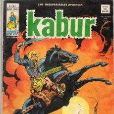 Cómics: COMIC VERTICE 1978 LOS INSUPERABLES VOL1 Nº 1 KABUR BUEN ESTADO. Lote 68437097