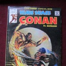 Cómics: RELATOS SALVAJES 62 CONAN EL BARBARO LAS JOYAS DE GWAHLUR SOLOMON KANE VERTICE 1979 TEBENI EXCELENTE. Lote 68963309
