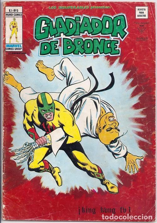 GLADIADOR DE BRONCE: ¡KING KUNG FU! / LOS INSUPERABLES, 5 - VÉRTICE, 04/1978 (Tebeos y Comics - Vértice - Grapa)