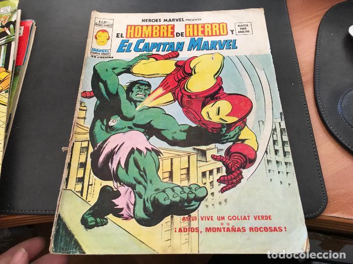 EL HOMBRE DE HIERRO Y EL CAPITAN MARVEL V2 Nº 11 (COI24) (Tebeos y Comics - Vértice - Hombre de Hierro)