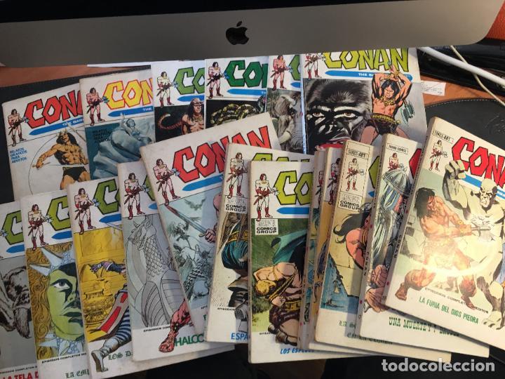 CONAN LOTE COLECCION COMPLETA DEL 1 AL 18. TACO MUY BUEN ESTADO VERTICE VOL 1 (COI26) (Tebeos y Comics - Vértice - Conan)