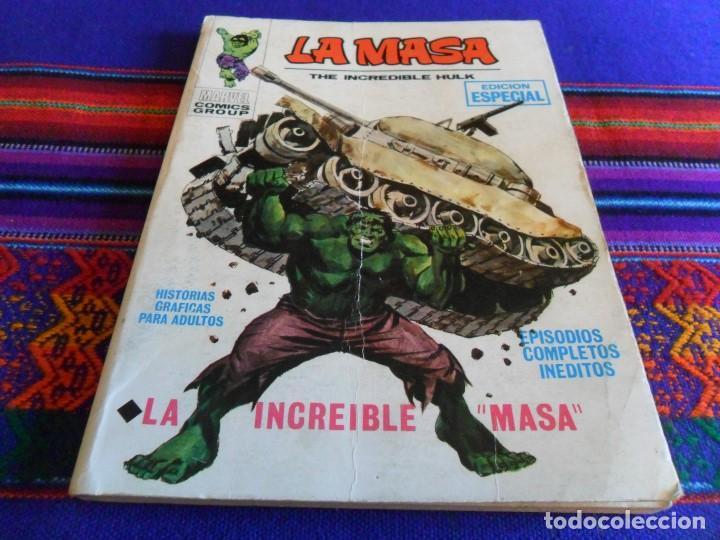 VÉRTICE VOL. 1 LA MASA Nº 1. 1970. 25 PTS. LA INCREÍBLE MASA. BUEN ESTADO Y DIFÍCIL. (Tebeos y Comics - Vértice - La Masa)
