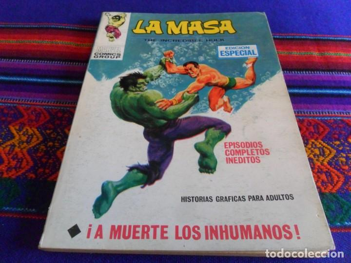 VÉRTICE VOL. 1 LA MASA Nº 8 CON NAMOR. 1970. 25 PTS. A MUERTE LOS INHUMANOS. MBE. REGALO Nº 26. (Tebeos y Comics - Vértice - La Masa)