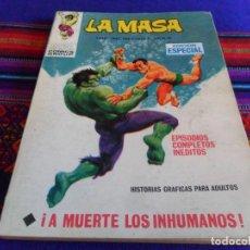 Cómics: VÉRTICE VOL. 1 LA MASA Nº 8 CON NAMOR. 1970. 25 PTS. A MUERTE LOS INHUMANOS. MBE. REGALO Nº 26.. Lote 72223695