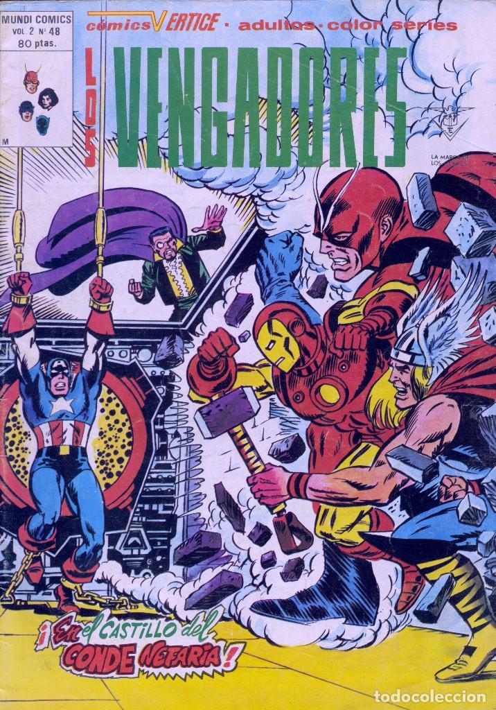 VENADORES Nº48. VOL.2. VÉRTICE. STAN LEE Y JACK KIRBY (Tebeos y Comics - Vértice - Vengadores)
