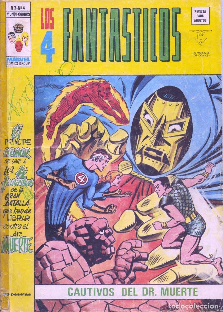4 FANTASTICOS Nº4. VOLUMEN 3. EDITORIAL VÉRTICE. STAN LEE Y JACK KIRBY (Tebeos y Comics - Vértice - 4 Fantásticos)