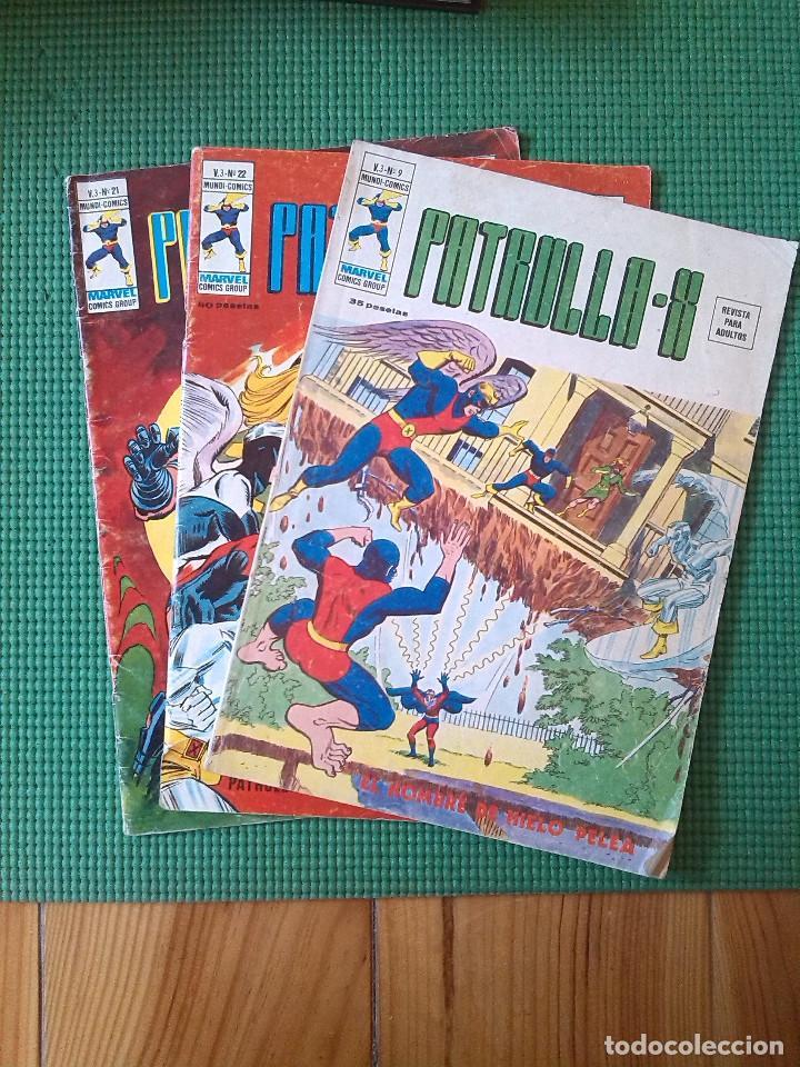 LOTE DE 3 NÚMEROS DE LA PATRULLA X VOLÚMEN 3 - NÚMEROS 9, 21 Y 22 - (Tebeos y Comics - Vértice - Patrulla X)