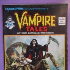 Cómics: ESCALOFRIO Nº 10, VAMPIRE TALES Nº 2 VERTICE ¡¡¡¡ BUEN ESTADO!!!!!. Lote 76173511