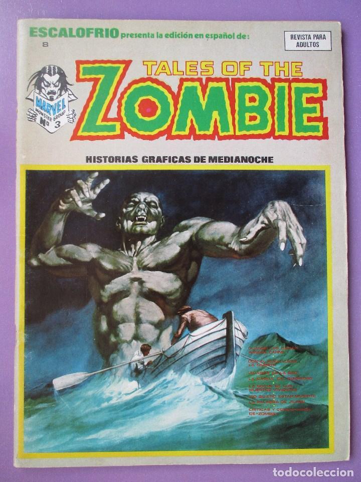 ESCALOFRIO Nº 8, TALES OF THE ZOMBIE Nº 3 ¡¡¡¡ MUY BUEN ESTADO !!!! (Tebeos y Comics - Vértice - V.1)