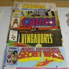 Cómics: LOTE 5 COMICS MARVEL CONAN , VENGADORES Y SECRET WARS AÑOS . Lote 77915490