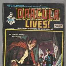 Cómics: ESCALOFRIO 32: DRACULA LIVES Nº 8, 1975, VERTICE BUEN ESTADO. Lote 77920221