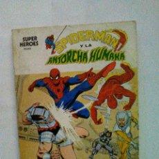 Cómics: VERTICE SUPER HEROES VOLUMEN 1 NUMERO 2 SPIDERMAN Y LA ANTORCHA HUMANA. 2 CONTRA 4 ... TEMIBLES. Lote 77941457
