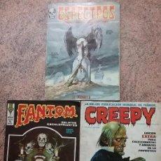 Cómics: LOTE 3 NÚMEROS: CREEPY 0, FANTOM 9 Y ESPECTROS 23. COMIC TERROR. BUEN ESTADO.. Lote 79644549