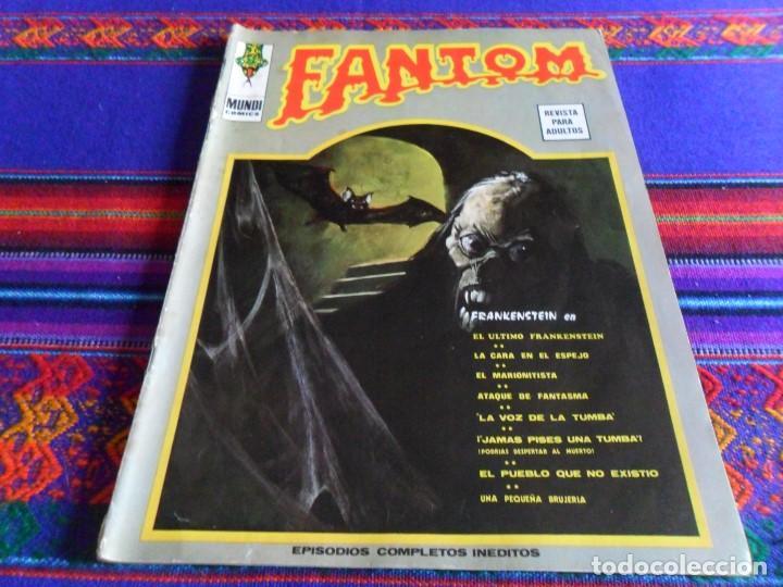 VÉRTICE VOL. 1 FANTOM Nº 37. 1973. 30 PTS. CON FRANKENSTEIN. RARO. (Tebeos y Comics - Vértice - Terror)