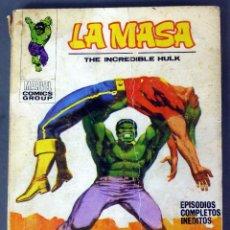 Cómics: MARVEL LA MASA THE INCREDIBLE HULK Nº 22 EL FIN DEL DR SANSÓN EDICIONES VÉRTICE TACO 1972. Lote 84837088