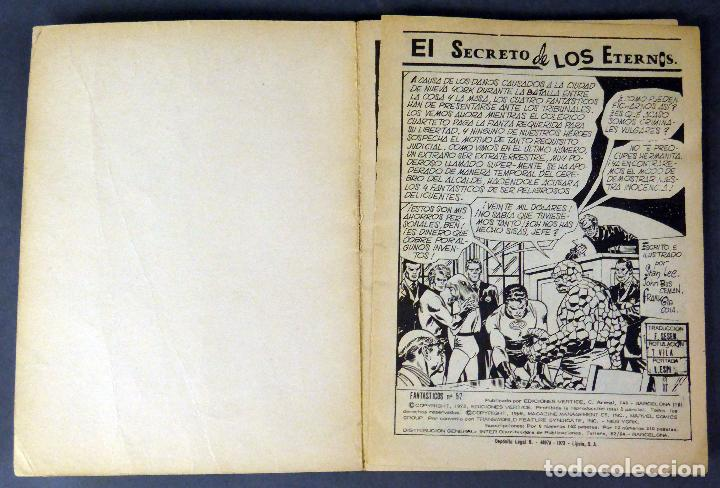 Cómics: Marvel Comics Los 4 Fantásticos nº 57 El Secreto de los eternos Ediciones Vértice 1973 - Foto 2 - 84840156