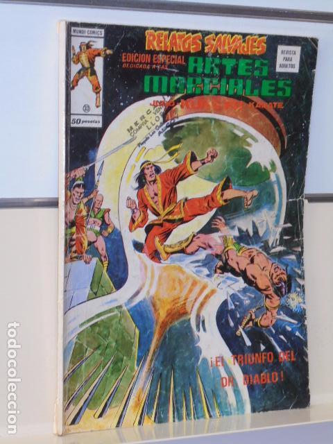 RELATOS SALVAJES ARTES MARCIALES Nº 33 - VERTICE (Tebeos y Comics - Vértice - Relatos Salvajes)