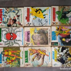 Cómics: LOTE VERTICE 9 NUMEROS INCOMPLETOS MARVEL VENGADORES SPIDERMAN 4 FANTASTICOS. Lote 89041748