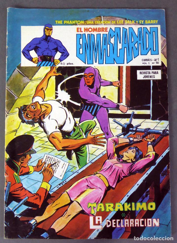 EL HOMBRE ENMASCARADO VOL 1 Nº 50 COMICS ART VÉRTICE 1976 TARAKIMO LA DECLARACIÓN (Tebeos y Comics - Vértice - Hombre Enmascarado)