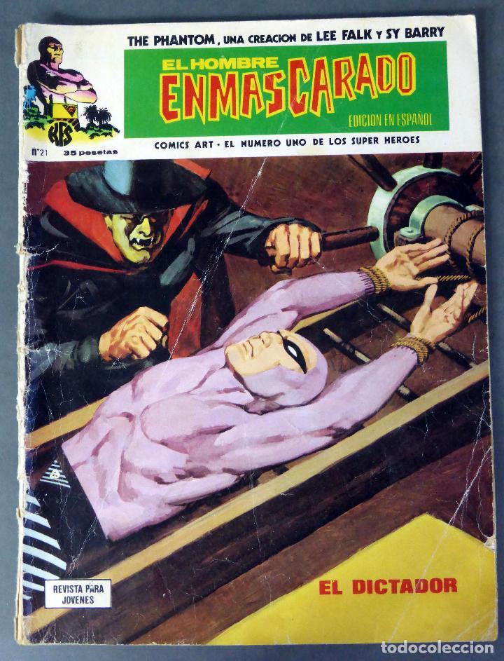 EL HOMBRE ENMASCARADO Nº 21 COMICS ART VÉRTICE 1974 EL DICTADOR (Tebeos y Comics - Vértice - Hombre Enmascarado)