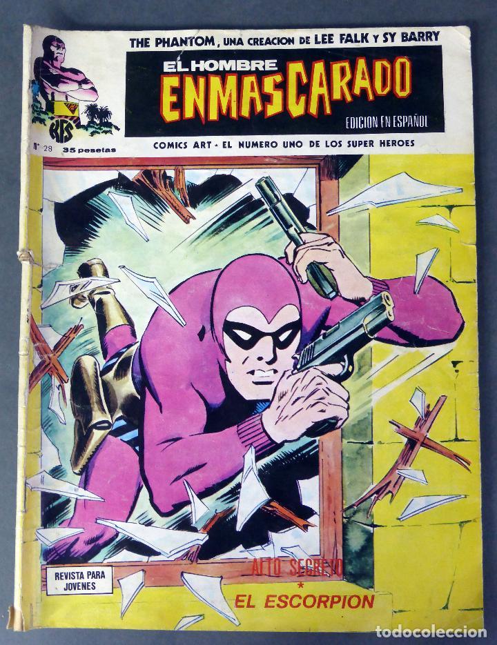 EL HOMBRE ENMASCARADO Nº 28 COMICS ART VÉRTICE 1974 ALTO SECRETO EL ESCORPIÓN (Tebeos y Comics - Vértice - Hombre Enmascarado)