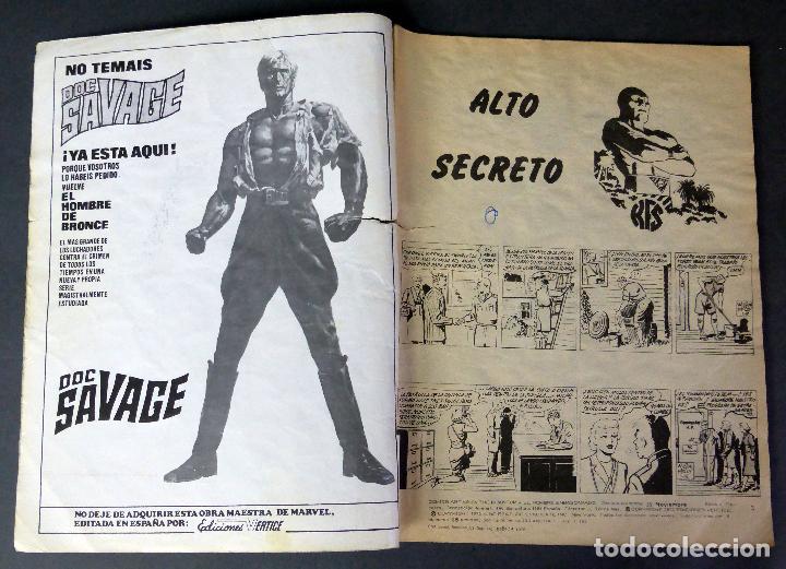 Cómics: El Hombre Enmascarado nº 28 Comics Art Vértice 1974 Alto Secreto El escorpión - Foto 2 - 90965385