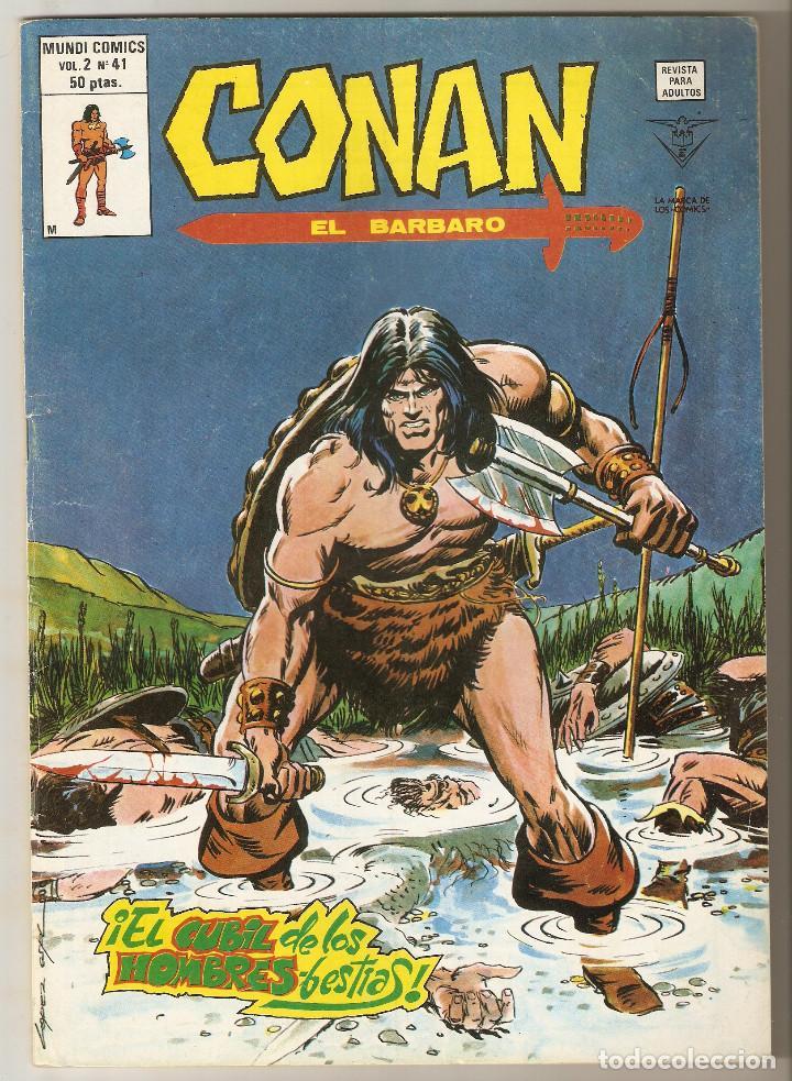CONAN EL BARBARO VOL2 Nº 41 50 PTS 1980 ¡EL CUBIL DE LOS HOMBRES-BESTIAS! - EXCELENTE (Tebeos y Comics - Vértice - Conan)