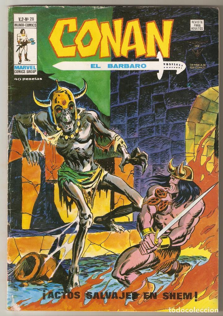 CONAN EL BARBARO VOL2 Nº 28 40 PTS 1979 ¡ACTOS SALVAJES EN SHEM! - VERTICE - (Tebeos y Comics - Vértice - Conan)
