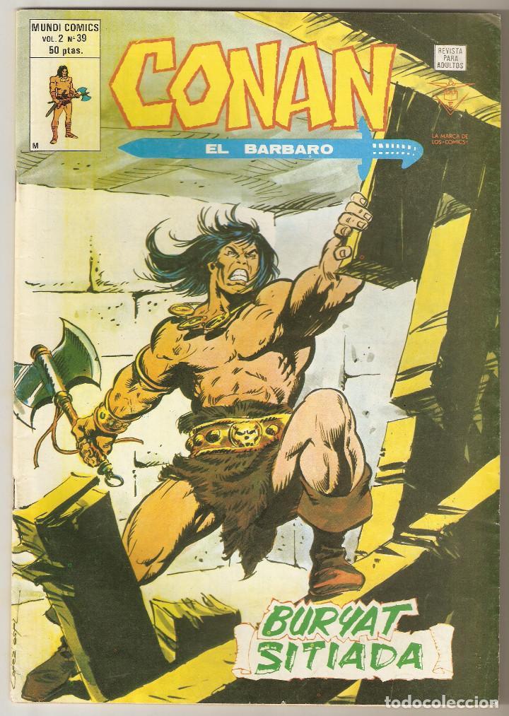 CONAN EL BARBARO VOL2 Nº 39 50 PTS 1980 BURYAT SITIADA - VERTICE - (Tebeos y Comics - Vértice - Conan)