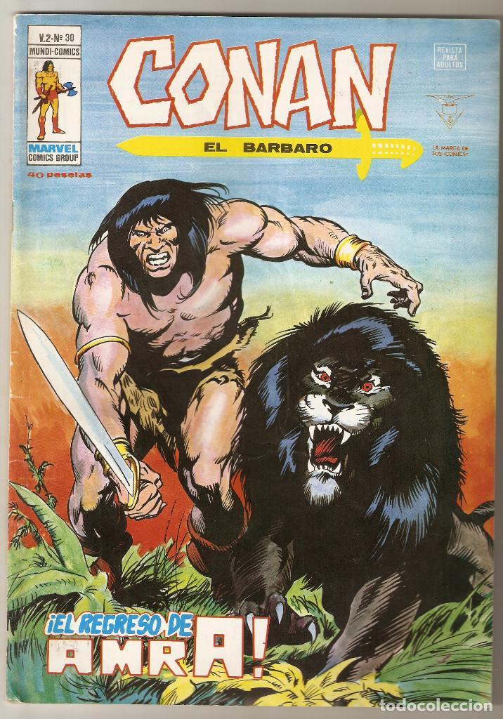 CONAN EL BARBARO VOL2 Nº 30 40 PTS 1979 ¡EL REGRESO DE AMRA! - VERTICE - (Tebeos y Comics - Vértice - Conan)
