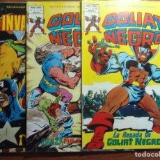 Cómics: LOTE DE 3 COMICS DE GOLIAT NEGRO, SELECCIONES MARVEL V1 VERTICE Nº48, 49 Y 50 EN GRAPA SAGA COMPLETA. Lote 94162705
