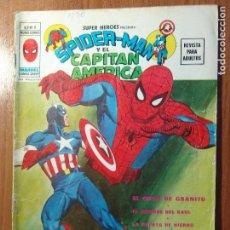 Cómics: SPIDERMAN Y CAPITAN AMERICA COLECCION SUPER HEROES DE MARVEL VOL2 MARVEL VERTICE Nº8 EN GRAPA. Lote 94338642