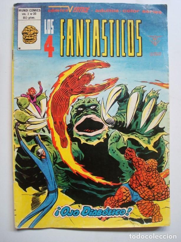 LOS 4 FANTÁSTICOS VOL.3 Nº 30 (MUNDI COMICS) VERTICE (Tebeos y Comics - Vértice - 4 Fantásticos)