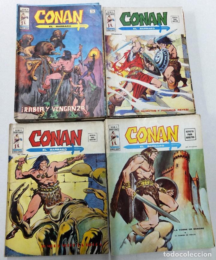 CONAN VOL.2 COLECCIÓN DE 43 EJEMPLARES.AQUÍ LOTE DE 39 FALTAN 1,2,3 Y 10.TODOS BUENOS. (Tebeos y Comics - Vértice - Conan)