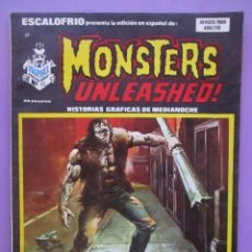 Cómics: ESCALOFRIO Nº 37 , MONSTERS UNLEASHED Nº10 VERTICE ¡¡¡¡¡¡ BUEN ESTADO!!!!!. Lote 96111935