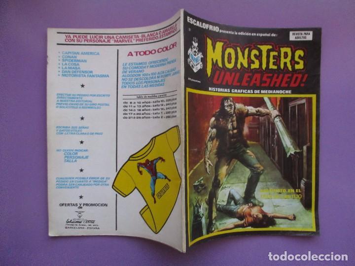 Cómics: ESCALOFRIO Nº 37 , MONSTERS UNLEASHED Nº10 VERTICE ¡¡¡¡¡¡ BUEN ESTADO!!!!! - Foto 3 - 96111935