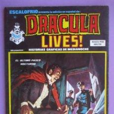 Cómics: ESCALOFRIO Nº 32, DRACULA LIVES Nº 8 VERTICE ¡¡¡¡¡¡ BUEN ESTADO!!!!!. Lote 96112111